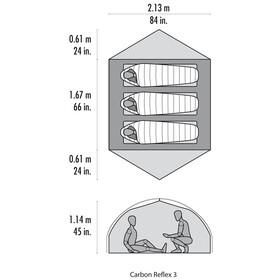 MSR Carbon Reflex 3 V3 Tent Green
